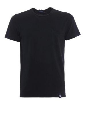 Drumohr: t-shirts - Chest pocket black T-shirt