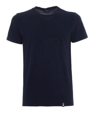 Drumohr: t-shirts - Chest pocket blue T-shirt