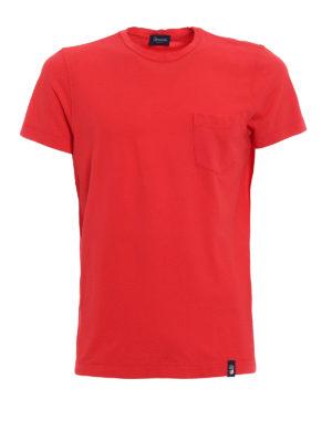 Drumohr: t-shirts - Chest pocket red T-shirt