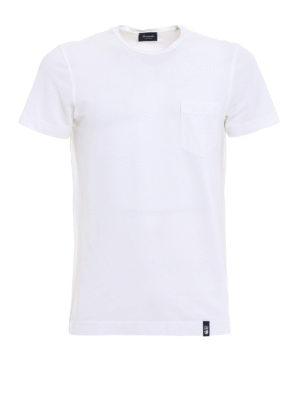 Drumohr: t-shirts - Chest pocket white T-shirt