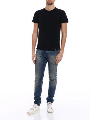 Drumohr: t-shirts online - Chest pocket black T-shirt