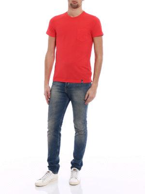 Drumohr: t-shirts online - Chest pocket red T-shirt