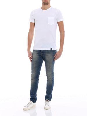 Drumohr: t-shirts online - Chest pocket white T-shirt