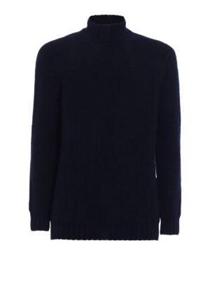 Drumohr: Turtlenecks & Polo necks - Lambswool turtle neck sweater