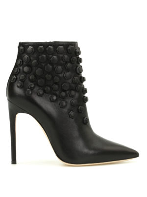 Dsquared2: ankle boots - Basic studded nappa ankle boots