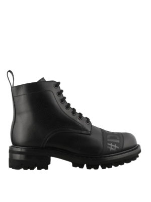 DSQUARED2: ankle boots - Logo leather ankle boots