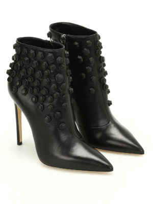 Dsquared2: ankle boots online - Basic studded nappa ankle boots