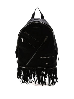 Dsquared2: backpacks - Leather studded Chiodo backpack