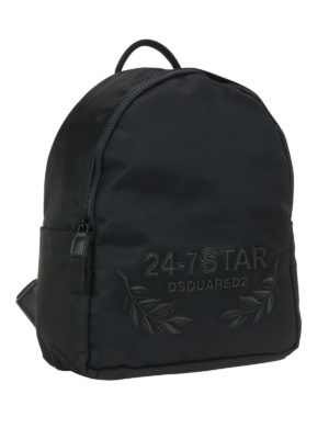 Dsquared2: backpacks online - 24-7 embroidered nylon backpack