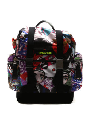 Dsquared2: backpacks - Twin-brother nylon backpack