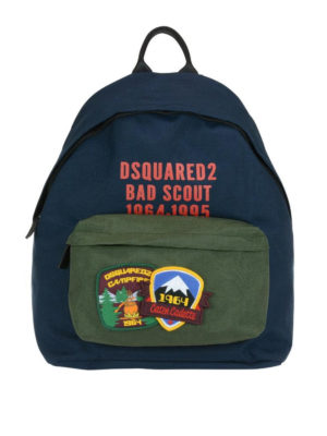 DSQUARED2: zaini - Zaino Bad Scout bicolore