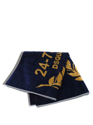 Dsquared2: beach accessories - 24-7 Star cotton beach towel