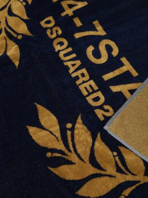 Dsquared2: beach accessories online - 24-7 Star cotton beach towel