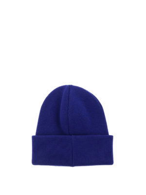 Dsquared2: beanies online - Icon knitted wool blue beanie