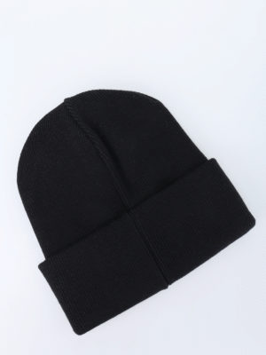 Dsquared2: beanies online - Ribbed wool logo beanie