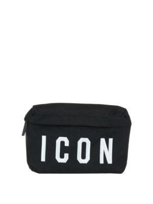 Dsquared2: belt bags - Icon canvas belt bag
