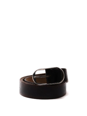 Dsquared2: belts - Aged woven leather belt