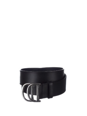 Dsquared2: belts - DD black leather belt