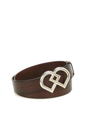 Dsquared2: belts - DD buckled leather belt