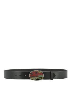 DSQUARED2: cinture - Cintura con fibbia Hawaii di strass