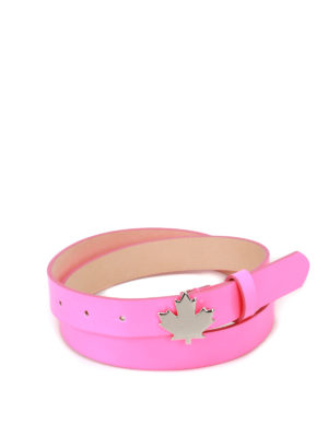 Dsquared2: belts - Fuchsia patent belt