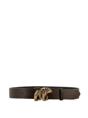 Dsquared2: belts - Gold-tone logo buckle leather belt