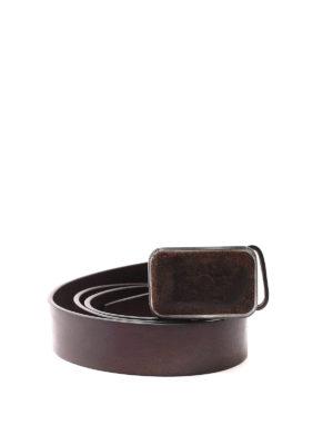 Dsquared2: belts - Logo leather plaque detail belt