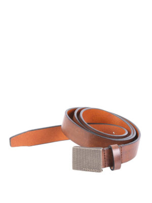Dsquared2: belts - Metal buckle leather belt
