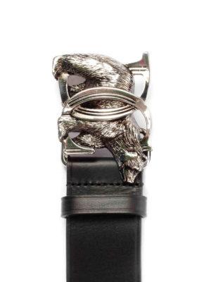 Dsquared2: belts online - DC Bear leather belt