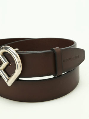 Dsquared2: belts online - DD buckled leather belt
