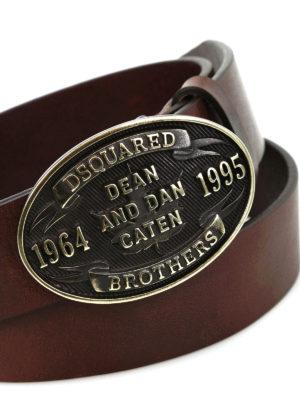 Dsquared2: belts online - Metal buckle leather belt
