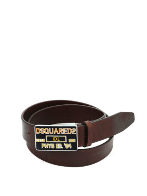 Dsquared2: belts - Squared metal buckle leather belt