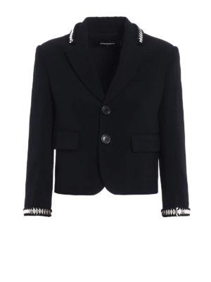 Dsquared2: blazers - Metallic embellishment crepe blazer