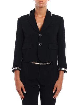 Dsquared2: blazers online - Metallic embellishment crepe blazer
