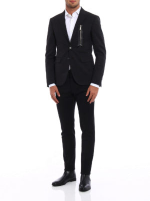 Dsquared2: blazers online - Wool blazer with zipped pocket