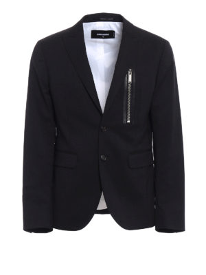 Dsquared2: blazers - Wool blazer with zipped pocket