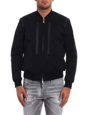 Dsquared2: bombers online - Wool and techno fabric bomber