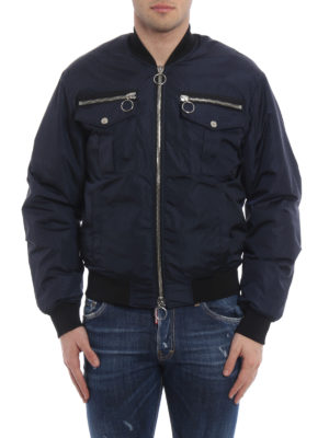 Dsquared2: bombers online - Zip detailed bomber jacket