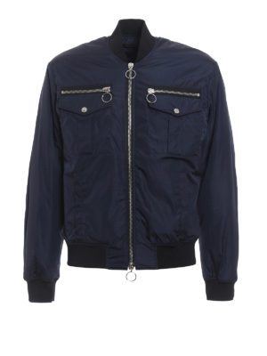 Dsquared2: bombers - Zip detailed bomber jacket