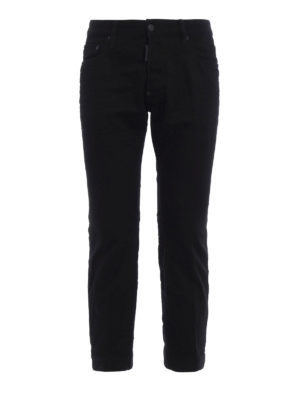 Dsquared2: bootcut jeans - Biker Sky cropped jeans