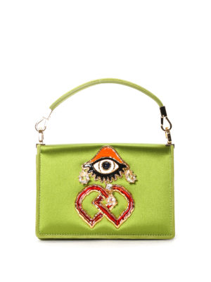 Dsquared2: bowling bags - Eye detail satin bowling bag