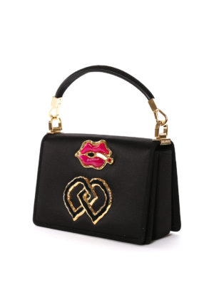 Dsquared2: bowling bags online - Smoking mounth detail satin bag