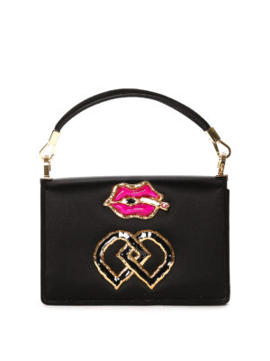 Dsquared2: bowling bags - Smoking mounth detail satin bag