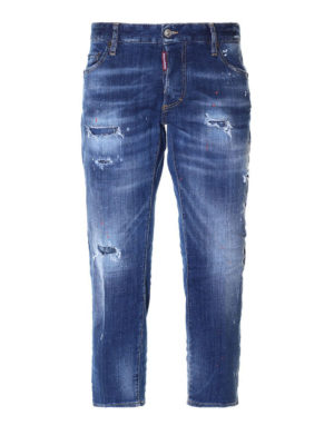 DSQUARED2: Boyfriend - Jeans crop stile boyfriend