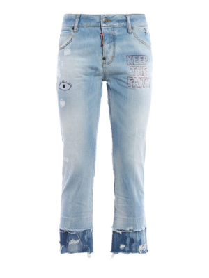 Dsquared2: Boyfriend - Cool Girl cropped jeans