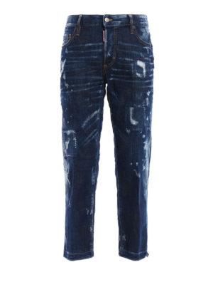 Dsquared2: Boyfriend - Frayed bottom detail jeans