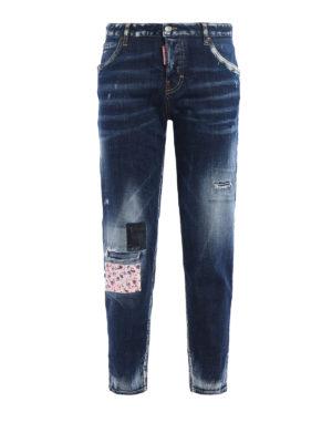 Dsquared2: Boyfriend - Hockney long crotch jeans