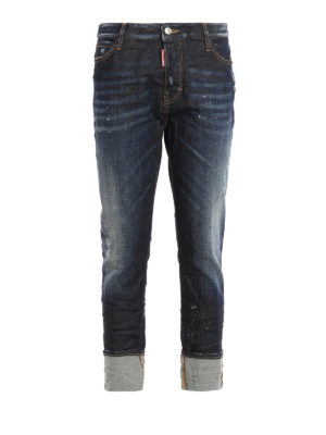Dsquared2: Boyfriend - London spotted jeans