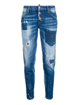 Dsquared2: Boyfriend - Low waist boyfriend denim jeans