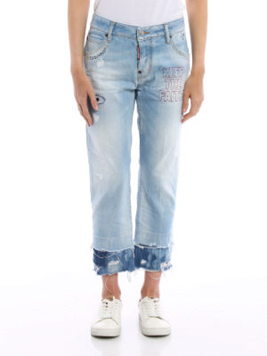 Dsquared2: Boyfriend online - Cool Girl cropped jeans